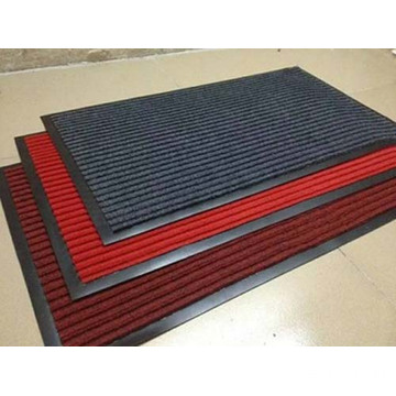 ribbed surface polyester carpet pvc backing door mats